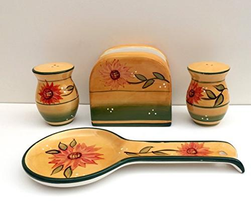 tuscany country sunflower hand painted