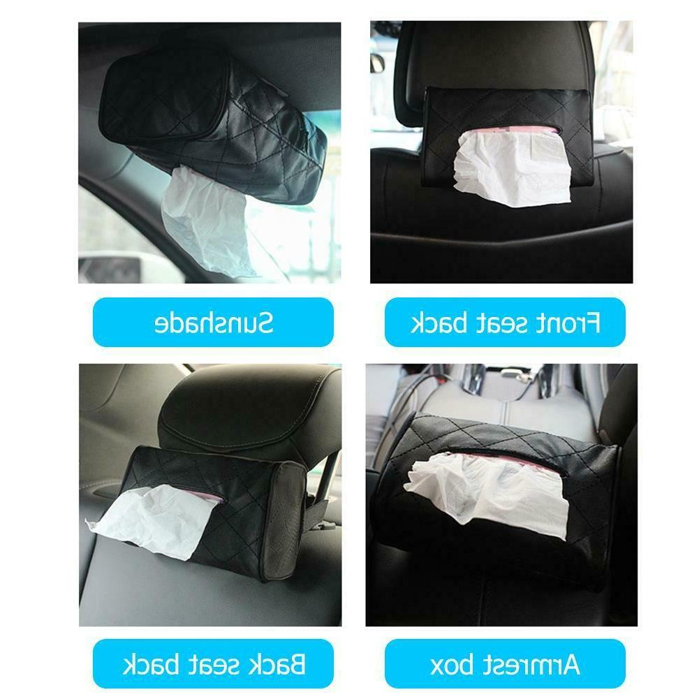 Universal Luxury PU Car Tissue Towel Napkin Papers Container