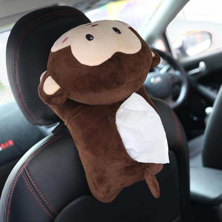 US Animal Dolls Tissue Napkin Case Home Car Decor