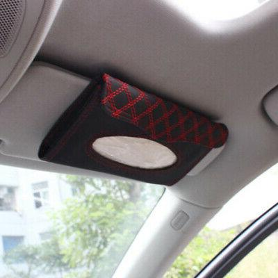US PU Car Visor Tissue Box Paper Cover
