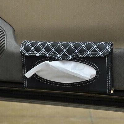 US PU Car Visor Tissue Napkin Holder Paper