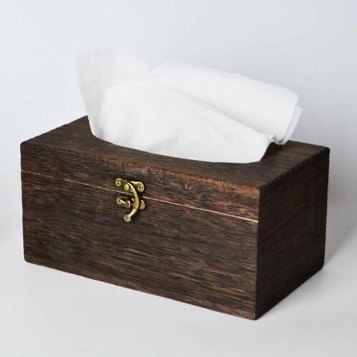 useful wooden retro tissue box cover paper