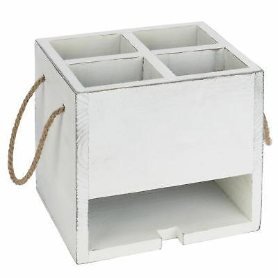 MyGift 4-Compartment Utensil Caddy