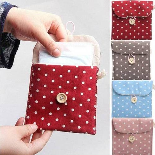 Womens Sanitary Towel Pad Tampon Purse Case Pouch yy