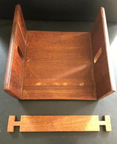 Wooden Napkin Metal Bar Napkins Table Top Flat Stand