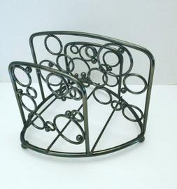Large Heavy Metal Kitchen Dining Table Napkin Holder