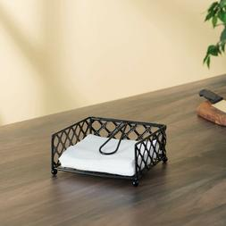 Lattice Collection Flat Napkin Holder with Weighted Pivoting