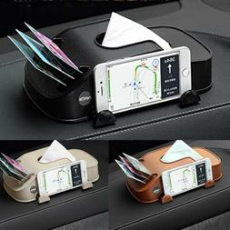 Leather Car Tissue Box Cover Napkin Paper Holder Towel Dispe