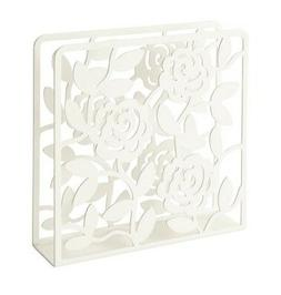 IKEA LIKSIDIG Napkin Holder White Steel Floral