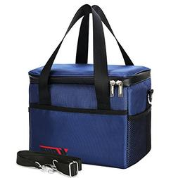 Yiiyaa Lunch Box Insulated Tote Cooler Bag Reusable Large Ca