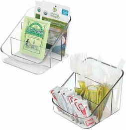mDesign Spice Packet Organizer for Kitchen Pantry, Cabinet,