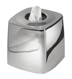 mDesign Metal Square Facial Tissue Box Cover Holder for Bath