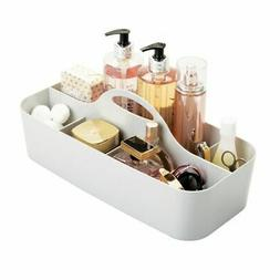 mDesign Makeup Storage Organizer Caddy Tote, Divided Basket