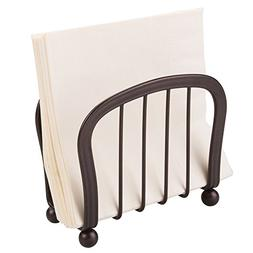 mDesign Modern Metal Steel Paper Napkin Holder for Kitchen C