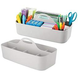 mDesign Large Office Caddy Storage Container & Organizer Tot