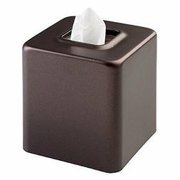 mDesign Steel Facial Tissue Box Cover/Holder for Bathroom Va