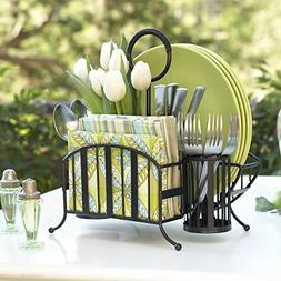 Mesa Delaware Collection Flatware Organizer and Picnic Caddy