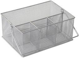 YBM HOME Mesh Silver Condiment Caddy / Kitchen Supply, Utens