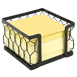 3 X 3 Metal Chicken Wire Mesh Sticky Note Dispenser, Office