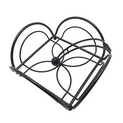 Lofekea Metal Flower Flat Napkin Holder Weighted Tissue Pape