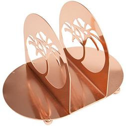 "Creative Home 50247 Copper Plated Metal Napkin Holder, 8"" x"