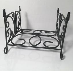 METAL NAPKIN OR TOWEL HOLDER Flat Black Scroll Design w/ Fee