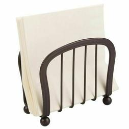mDesign Metal Paper Napkin Holder for Kitchen Countertop, Di