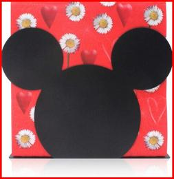 Mickey Mouse Head Stainless Steel Napkin Holder Stand For Ki