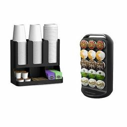 Mind Reader K-Cup Carousel and Coffee Condiment / Cup Organi