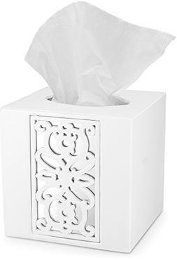 DWELLZA Mirror Janette Tissue Box Cover Square  – Decorati