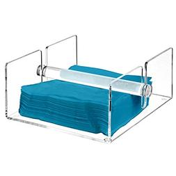 Modern Clear Acrylic Kitchen Napkin Holder Rack with Center
