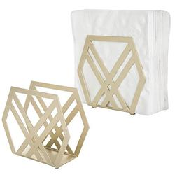 modern geometric brass tone metal