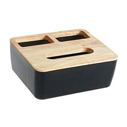 Modern Wooden + Plastic Tissue Box Home Kitchen Facial Tissu