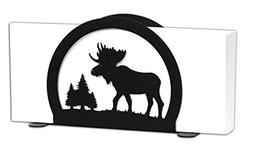 SWEN Products MOOSE Black Metal Letter Napkin Card Holder