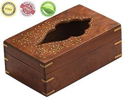 Decorative Wooden Tissue Box Cover Holder Tissue Paper Dispe