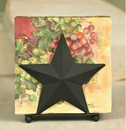 Napkin Caddy - Rustic Country Star Napkin by Colonial Tin Wo