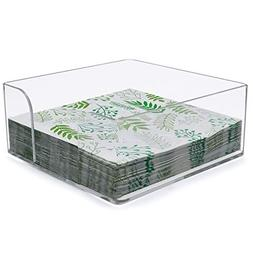 Napkin Holder, Clear Acrylic Cocktail Napkin Holder for Rest