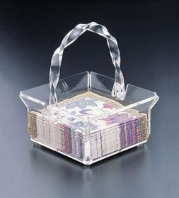 Napkin Holder Basket w/Twisted Handle