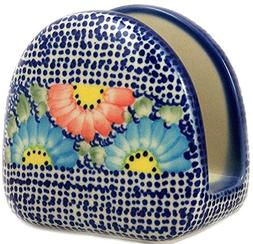 Polish Pottery Napkin Holder in Unikat Pattern U1 or Gypsy