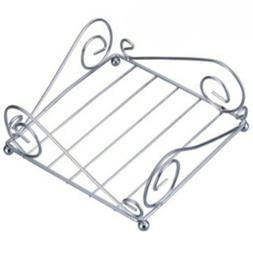 Oasis Collection Napkin Holder Chrome Metal Wire Scroll Mode
