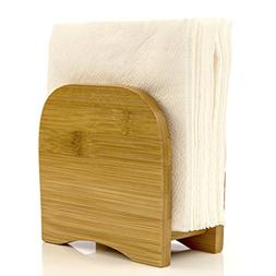 Napkin Holder Counter Top Made of Organic Bamboo Wood By Int