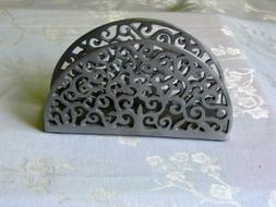 Napkin Holder Grey Anodized Aluminum Yair Emanuel Home Decor