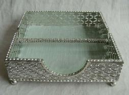 napkin holder pewter silver color