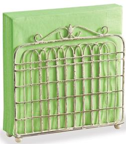 Napkin Holder - Garden Gate by Park Designs - Cream Metal -