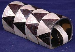 napkin holders mother of pearl shell black