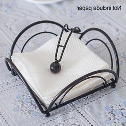 napkin serviette holder dispenser black metal home
