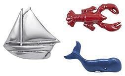 Mariposa Napkin Weights, set of 3, Red Lobster, Blue Whale &