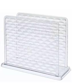 New Cooking Concepts Clear Plastic Textured Napkin Holder 5.