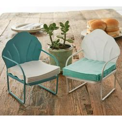 New Set of 2 Whimsical Lawn Chair Beverage Napkin Holders