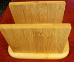 NEW WOODEN NAPKIN HOLDER KITCHEN, DINING RM - CONTEMPORARY -